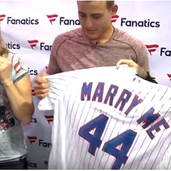 Red-Hot Chicago Cubs Slugger Anthony Rizzo Assists With Surprise Marriage Proposal