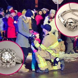 Firefighter Halts Christmas Parade to Propose to His Girlfriend... and Her 2-Year-Old Daughter