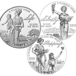 U.S. Mint Introduces a Trio of Stunning Platinum Coins Depicting Life, Liberty and Happiness